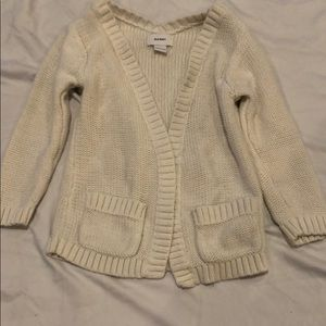 Old navy cream cardigan with pockets